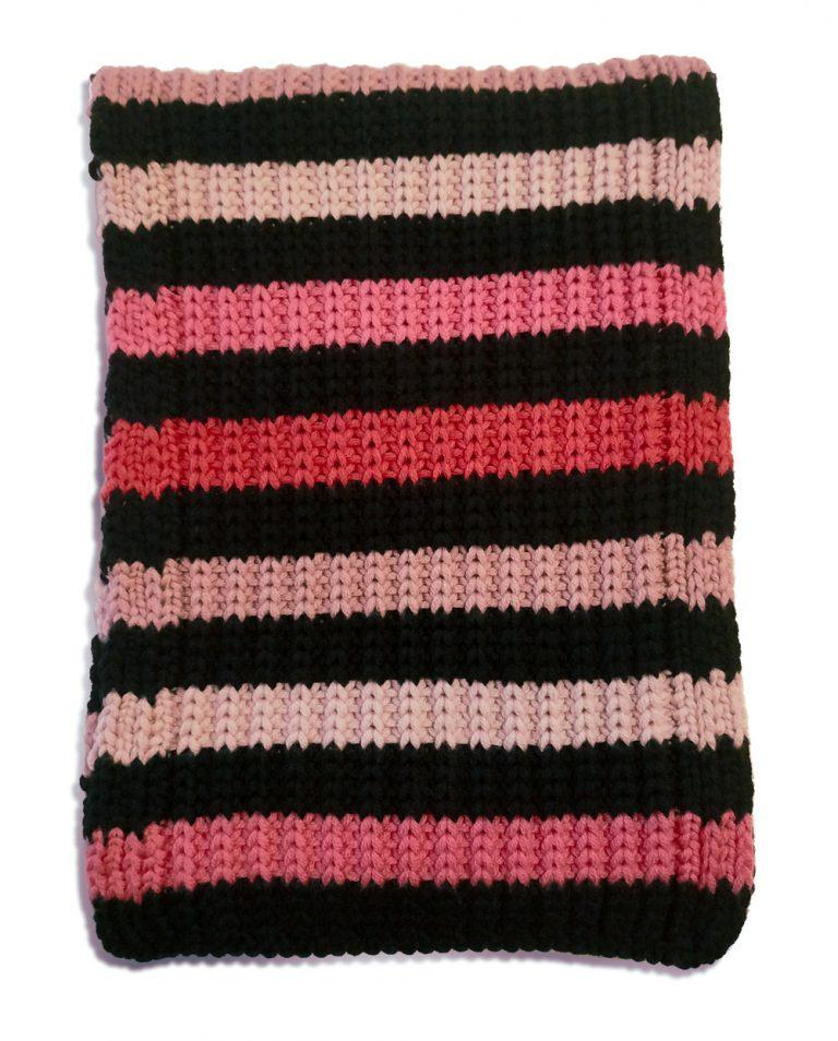 sciarpa lana righe