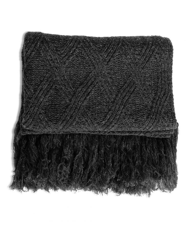 stola lana grigio scuro